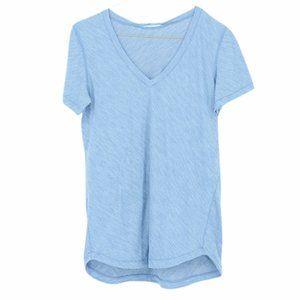 Lululemon heathered blue basic v neck t shirt